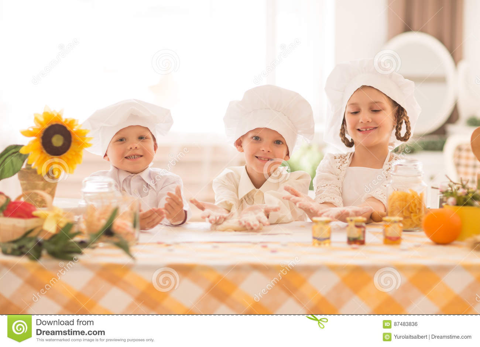 kid kitchens under cabinet shelving kitchen 以烹调一顿可口早餐的厨师的形式愉快的小孩在厨房里库存照片 图片包括有 以烹调一顿可口早餐的厨师的形式愉快的小孩厨房