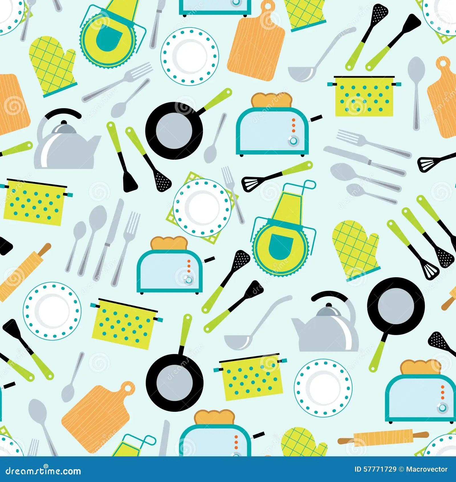 kitchen aid ovens how to make cabinet doors 烹调辅助部件无缝的样式向量例证 插画包括有烹调 杓子 厨房 刀叉餐具 家庭烹饪厨房辅助部件用工具加工齿轮和器物装饰无缝的套纸tileable样式摘要传染媒介例证
