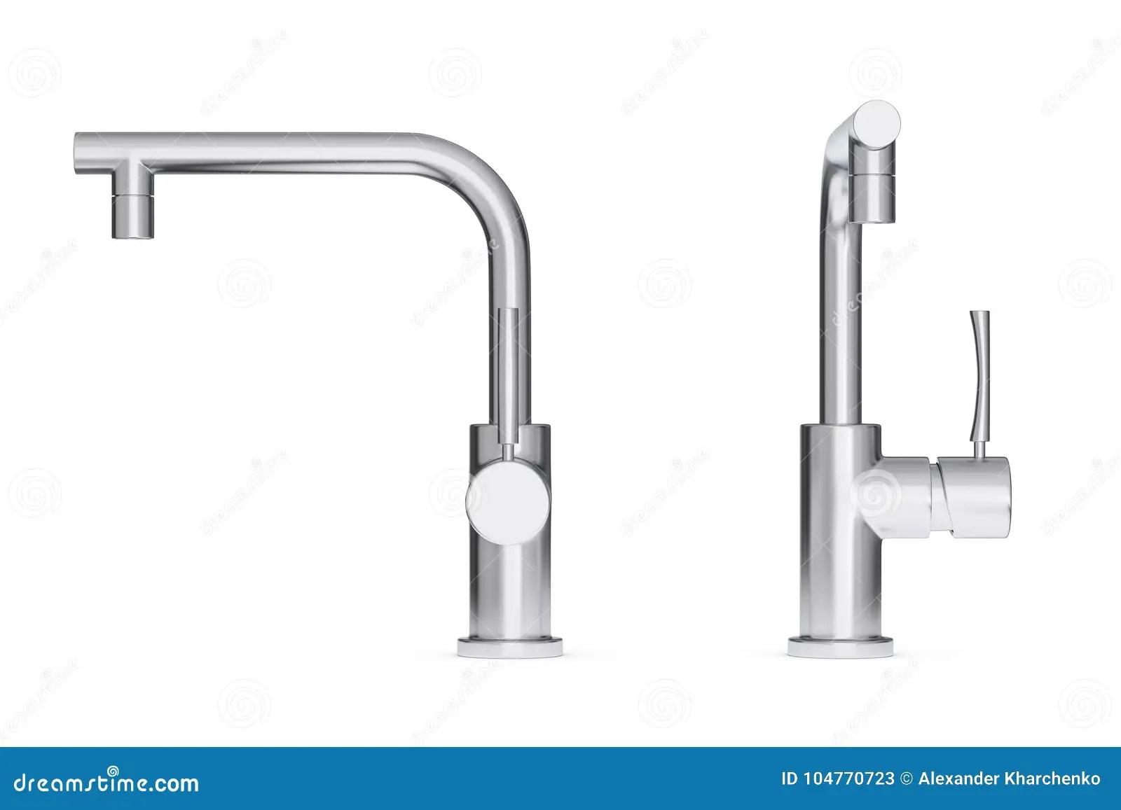stainless steel kitchen faucets custom knives 现代不锈钢厨房水龙头 龙头3d翻译库存例证 插画包括有龙头 把柄 消防 在白色背景的龙头3d翻译
