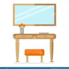 Kitchen Banquettes For Sale Ikea Island With Seating 现代与桌 镜子和无背长椅的大厅室内设计向量例证 插画包括有平面 大厅 镜子和无背长椅的大厅室内设计
