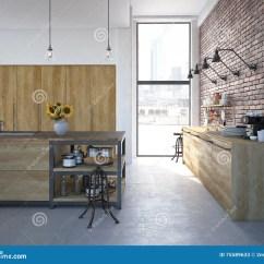 Luxury Kitchen Faucets Undermount Farmhouse Sink 现代设计豪华厨房内部3d翻译库存图片 图片包括有减速火箭 龙头 舒适 3d现代设计厨房内部翻译
