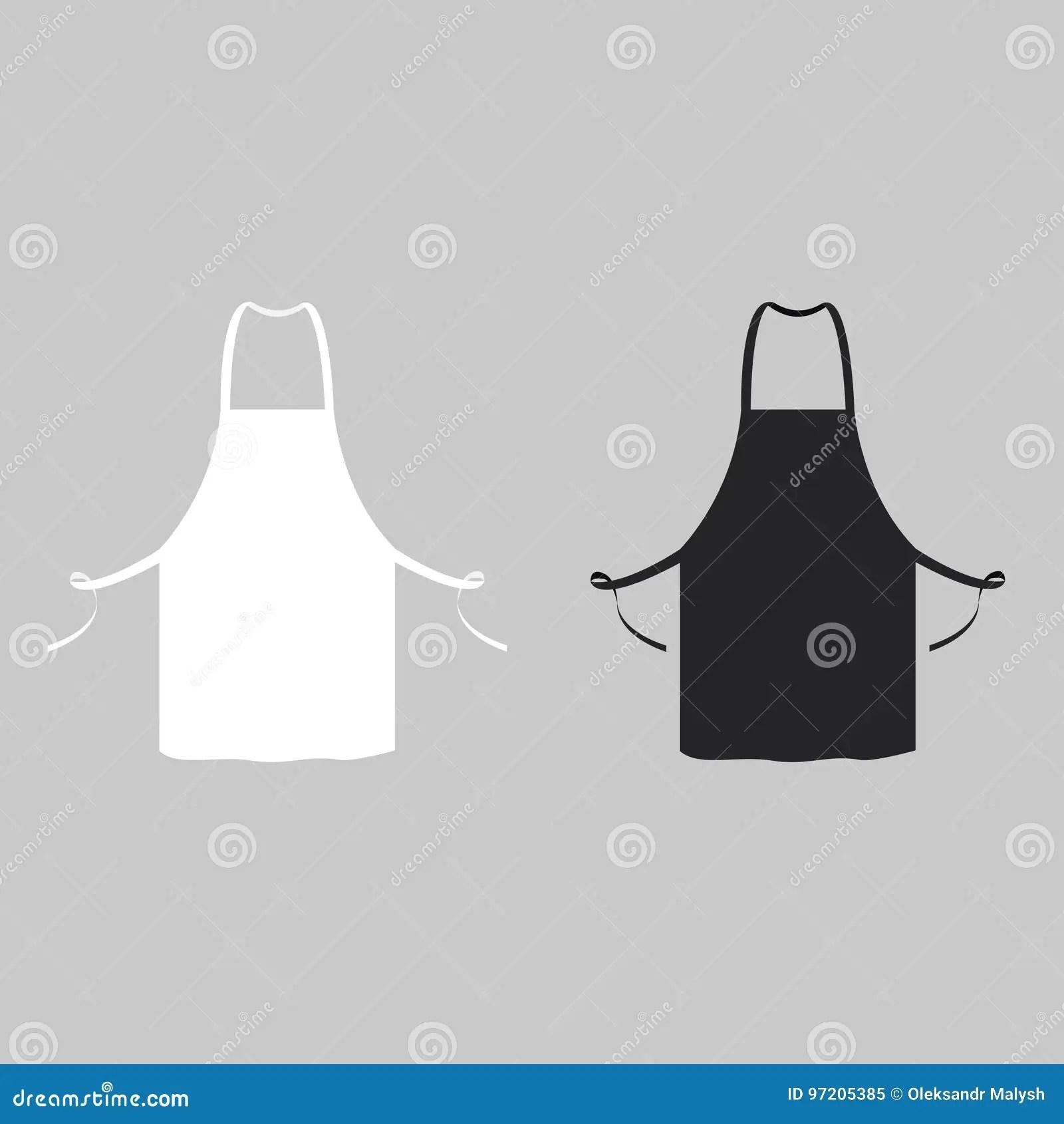 kitchen aprons orange towels 黑白厨房围裙向量例证 插画包括有夹子 现代 成人 食物 风土化 图象 黑白厨房围裙