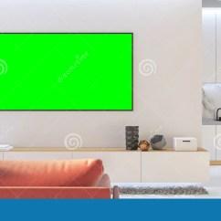 Kitchen Console 6 Person Table 白色客厅电视嘲笑与沙发 厨房 控制台库存例证 插画包括有厨房 计数器 控制台