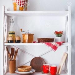 Decorative Kitchen Signs Personalized Items 白色木架子 厨房土气家具库存图片 图片包括有家具 陶器 咖啡馆 厨房 厨房土气家具