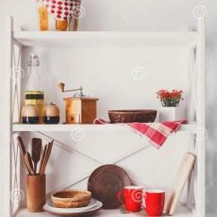 Kitchen Shelf Ideas Kidkraft Toy 白色木架子 厨房土气家具库存图片 图片包括有减速火箭 户内 对象 厨房土气家具