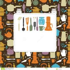 Framed Prints For Kitchens Kitchen Furniture Ikea 看板卡动画片厨房向量例证 插画包括有动画片 框架 家庭 瓶子 刀叉 看板卡动画片例证厨房向量