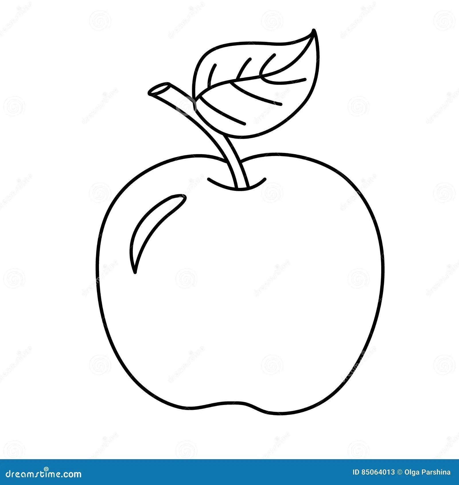 着色动画片苹果页概述 果子 书五颜六色的彩图例证 向量例证. 插画 包括有 幼稚园, 等高, 动画片, 着色