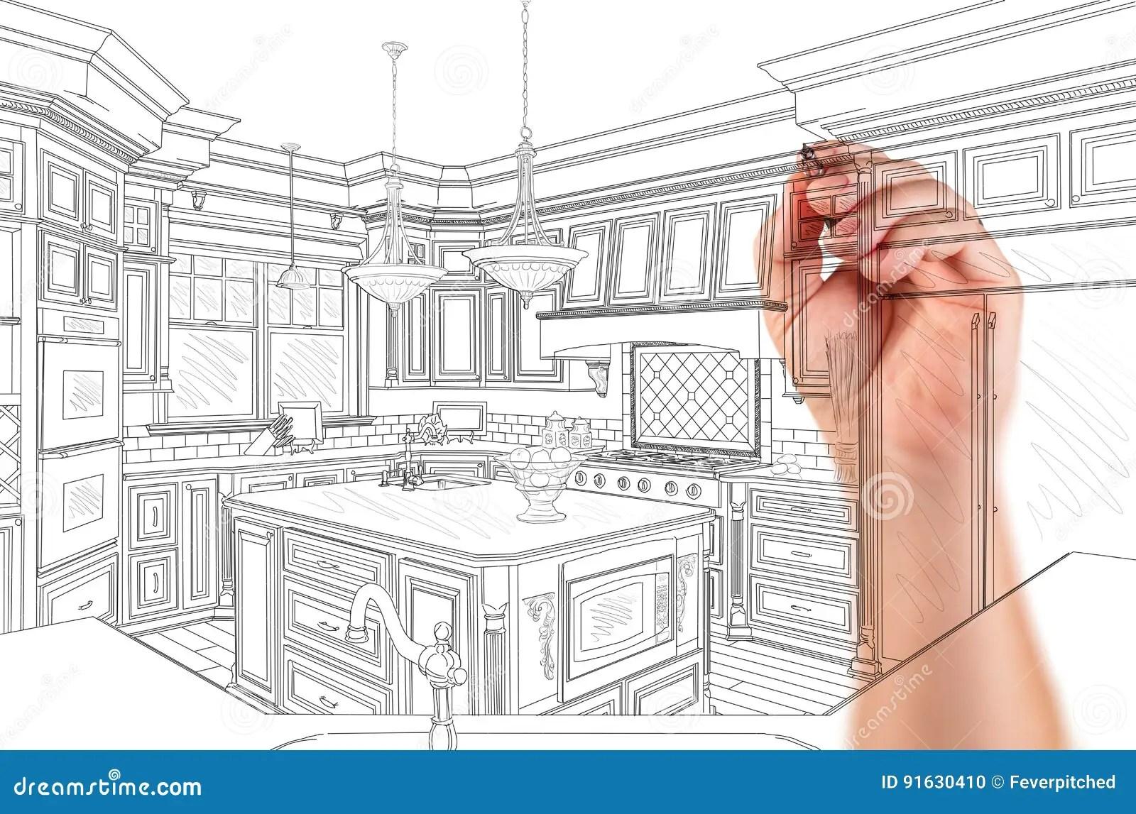 kitchen reno square faucet 建筑师习惯厨房设计图画细节的手库存照片 图片包括有厨房 你自己 建筑 建筑师习惯厨房设计图画细节的手