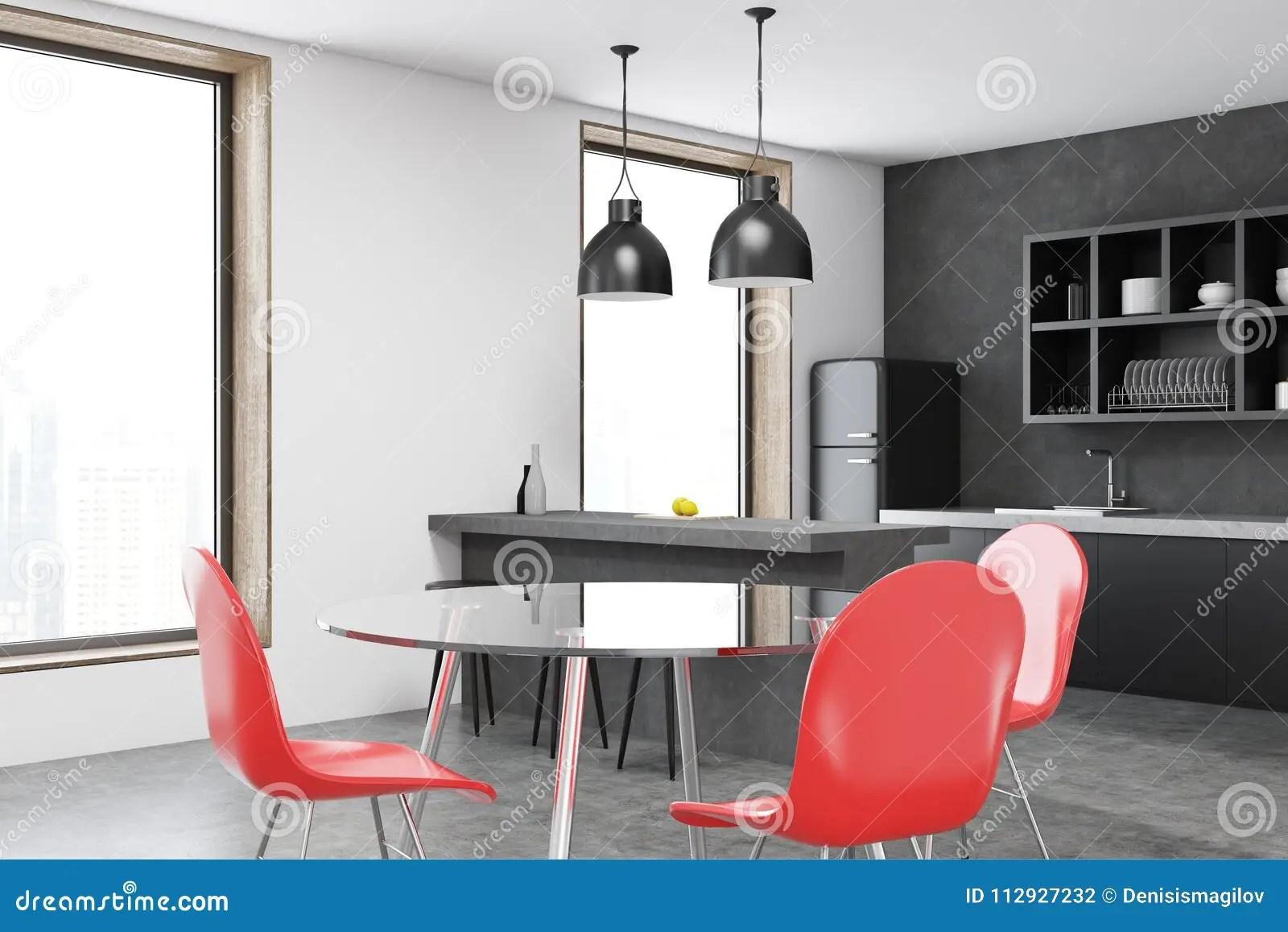 chairs kitchen island with table 红色椅子厨房内部库存例证 插画包括有嘲笑 饮料 弯脚的 豪华 复制 红色椅子厨房内部