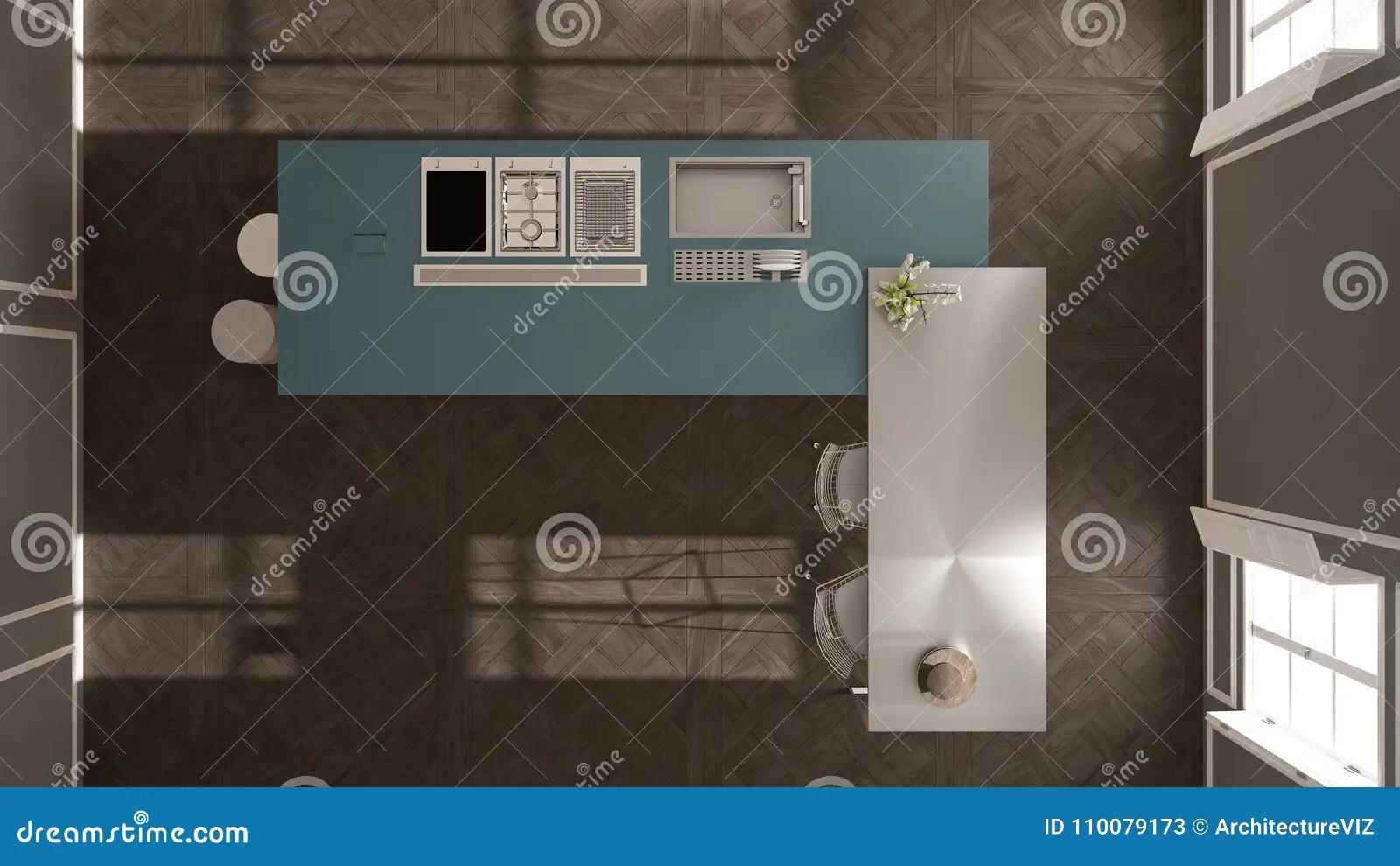 navy blue kitchen decor small island with chairs 经典内部的现代有凳子和两的大窗口厨房 海岛 顶视图 白色和蓝色海军 白色和蓝色海军建筑学室内设计
