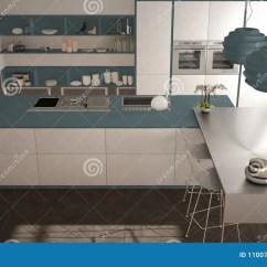 Navy Blue Kitchen Rugs 5 Piece Table Sets 经典内部的现代有凳子和两的大窗口厨房 海岛 顶视图 白色和蓝色海军 白色和蓝色海军建筑学室内设计