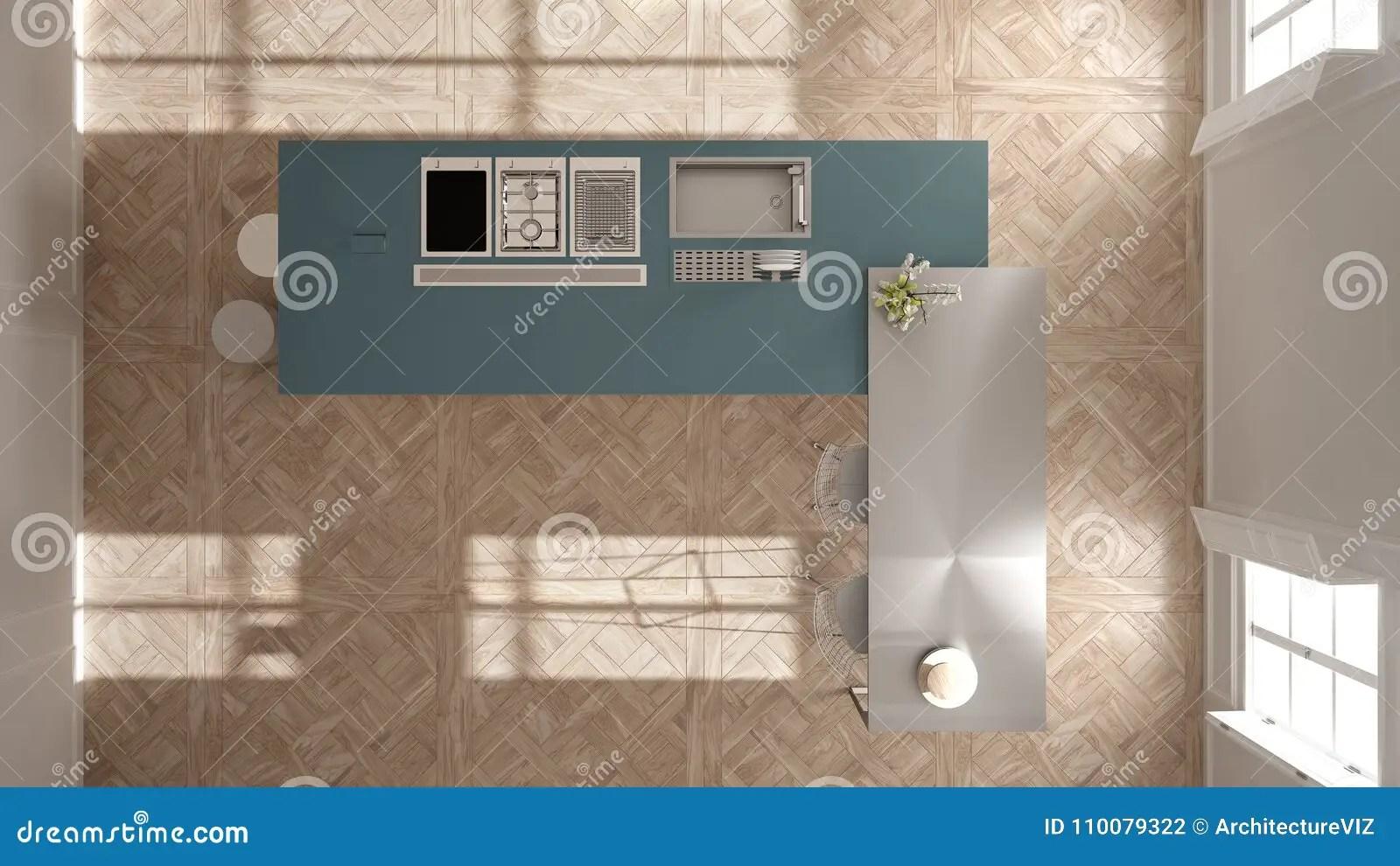 navy blue kitchen decor best backsplash 经典内部的现代有凳子和两的大窗口厨房 海岛 顶视图 白色和蓝色海军 白色和蓝色海军建筑学室内设计
