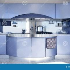 Decorating Kitchen Vulcan 结构蓝色装饰厨房现代银库存照片 图片包括有微波 家具 当代 集成 结构蓝色装饰厨房现代银