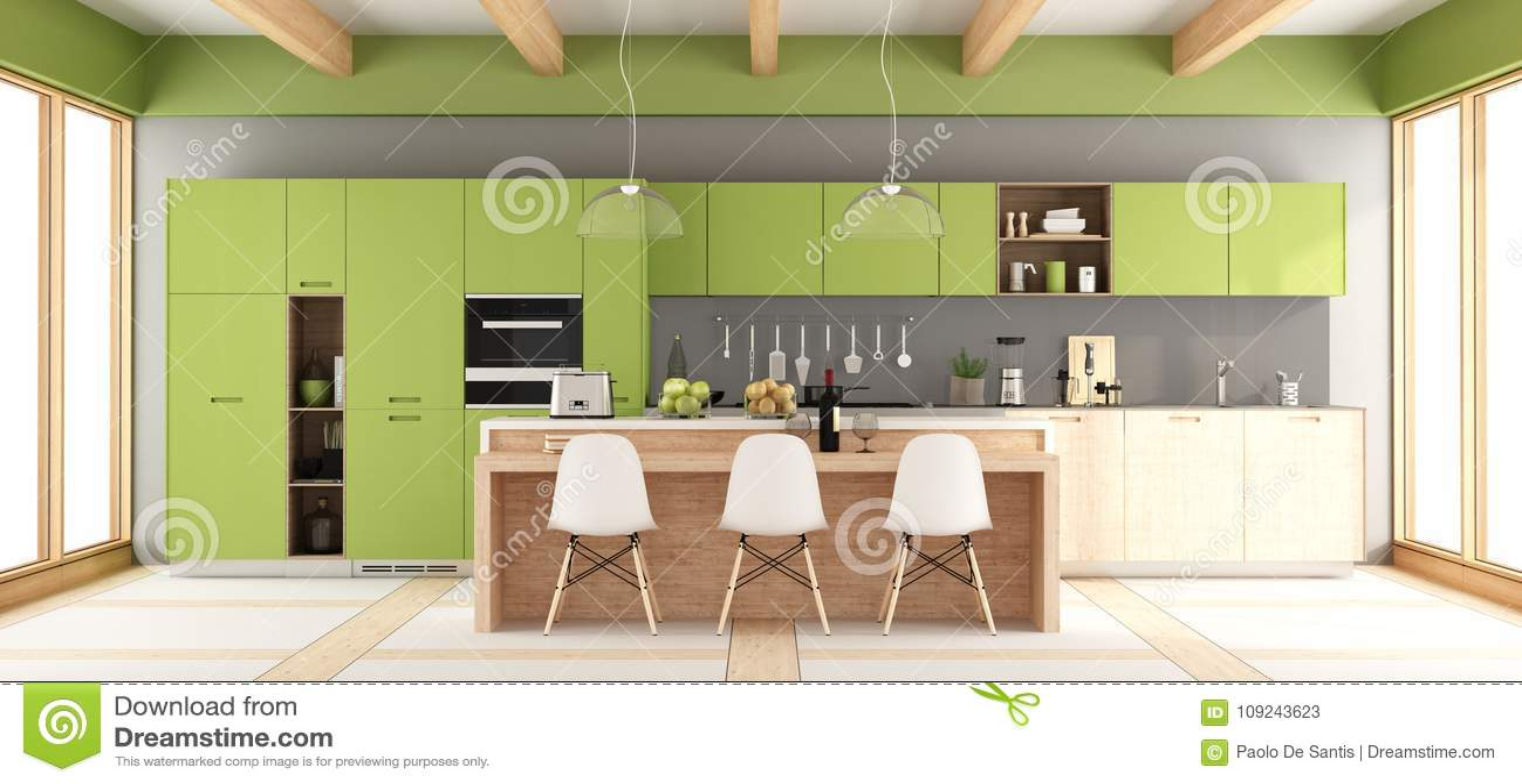 gray kitchen towels counter materials 绿色和灰色现代厨房库存例证 插画包括有设备 厨具 生活方式 最低纲领 有海岛和椅子的 3d绿色和灰色现代厨房翻译