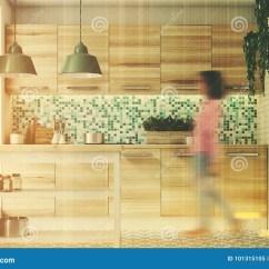 Kitchen Console Cost To Remodel Small 绿色马赛克厨房 被定调子的木控制台库存图片 图片包括有例证 平面 被定调子的木控制台