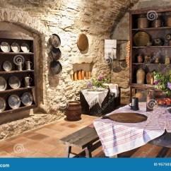 Traveling Kitchen Rubbermaid Trash Can 老厨房库存照片 图片包括有大别墅 装饰 厨师 旅行 厨房 布琼布拉 城堡厨房老斯洛伐克