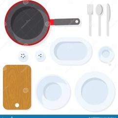 Kitchen Fork Chief 背景分叉厨房六器物白色碗筷向量例证 插画包括有烹调 剪切 正餐 背景分叉厨房六器物白色碗筷