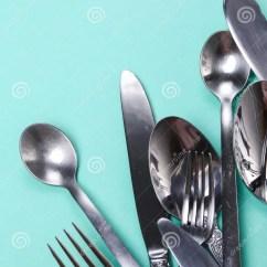 Kitchen Fork Used Appliances For Sale 背景分叉厨房六器物白色库存照片 图片包括有房子 正餐 餐馆 厨师 在桌上的厨房器物