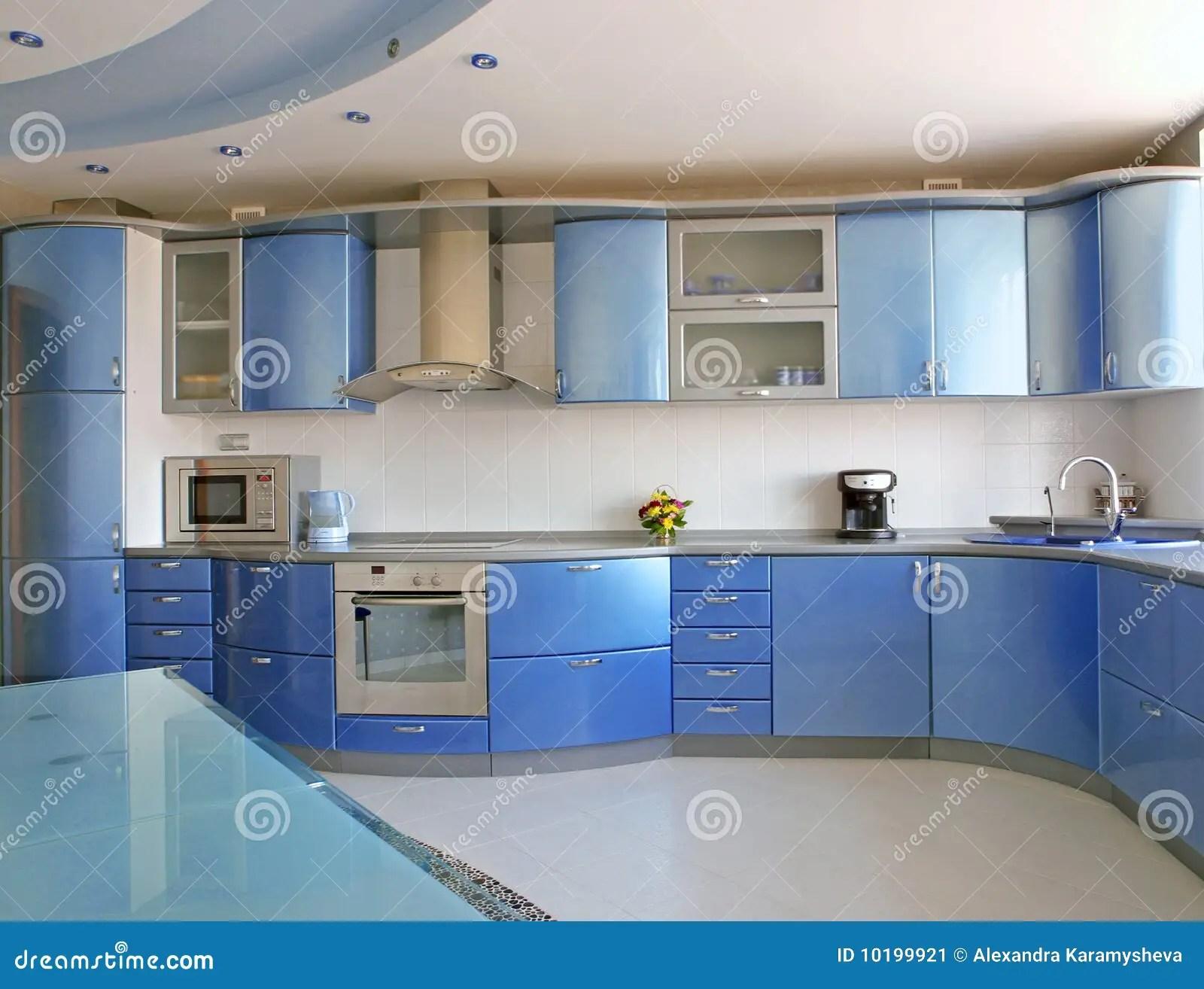 in stock kitchens small kitchen white cabinets 蓝色厨房库存图片 图片包括有庄园 把柄 蓝色 微波 厨师 现代 现代蓝色内部厨房的豪华