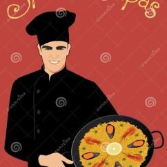Kitchen Hats Aid Mixer Sale 西班牙塔帕纤维布戴厨房帽子的英俊的西班牙厨师拿着有典型的西班牙肉菜饭 西班牙塔帕纤维布戴厨房帽子的英俊的西班牙厨师拿着有