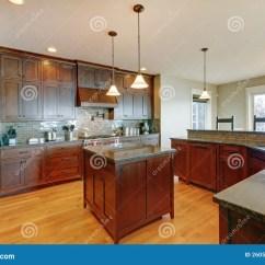 Kitchen Updates Aid Coffee Grinder 豪华松木美丽的自定义厨房库存照片 图片包括有房子 厨房 更新 实际 豪华与海岛和花岗岩的松木美丽的自定义厨房内部装饰业