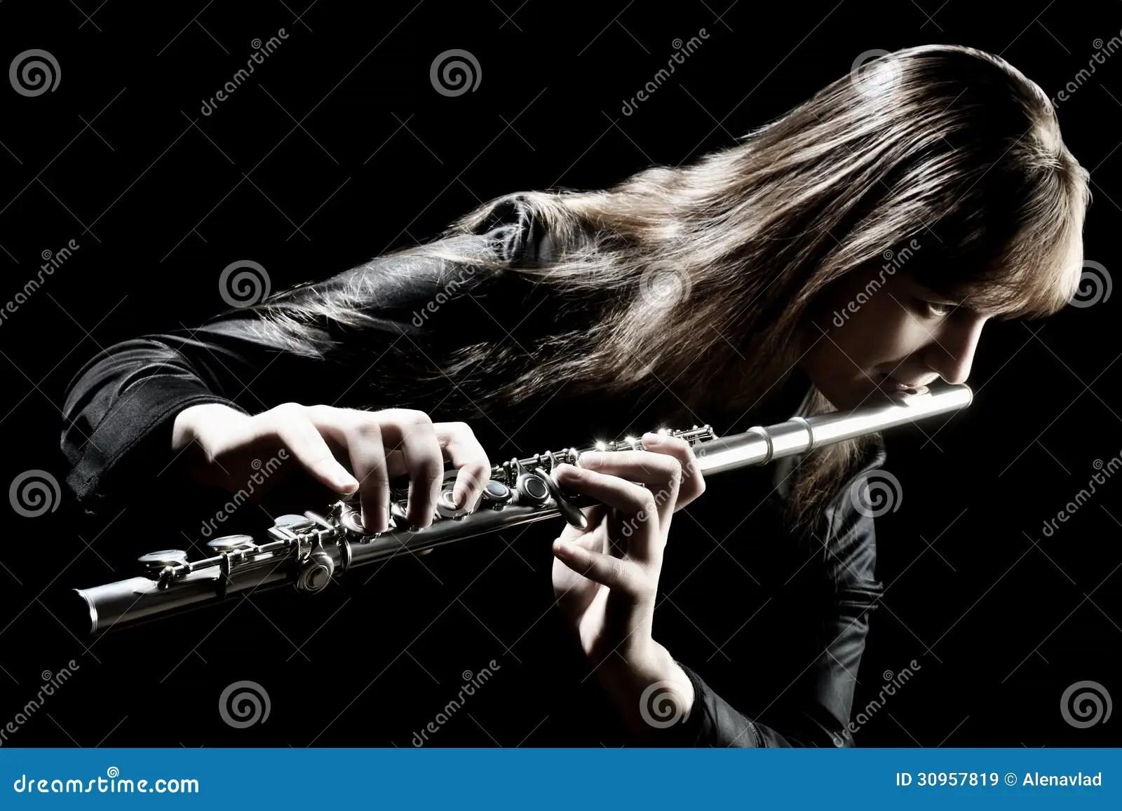 長笛樂器長笛演奏家音樂家使用 免版稅庫存圖片 - 圖片: 30957819