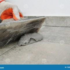 Cement Tile Kitchen Ashley Furniture Table And Chairs 陶瓷填水泥的瓦片库存图片 图片包括有厨房 膏药 装饰 技能 安装 陶瓷填水泥的瓦片