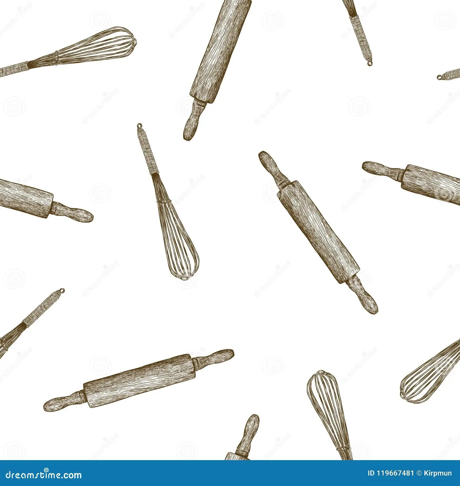 kitchen tools store cabinet door bumper pads 面包店厨房工具 手凹道无缝的样式传染媒介向量例证 插画包括有会议室 手凹道剪影无缝的样式传染媒介