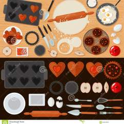 Kitchen Tools Store Danze Parma Faucet 面包店甜点设置与成份和厨房工具向量例证 插画包括有动画片 果子 成份 面包店甜点设置与成份和厨房工具