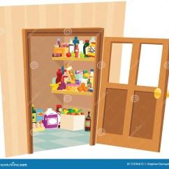 Home And Kitchen Stores Chrome Faucet 餐具室商店向量例证 插画包括有食物 冰箱 内部 厨房 家庭 冷静 户 餐具室商店