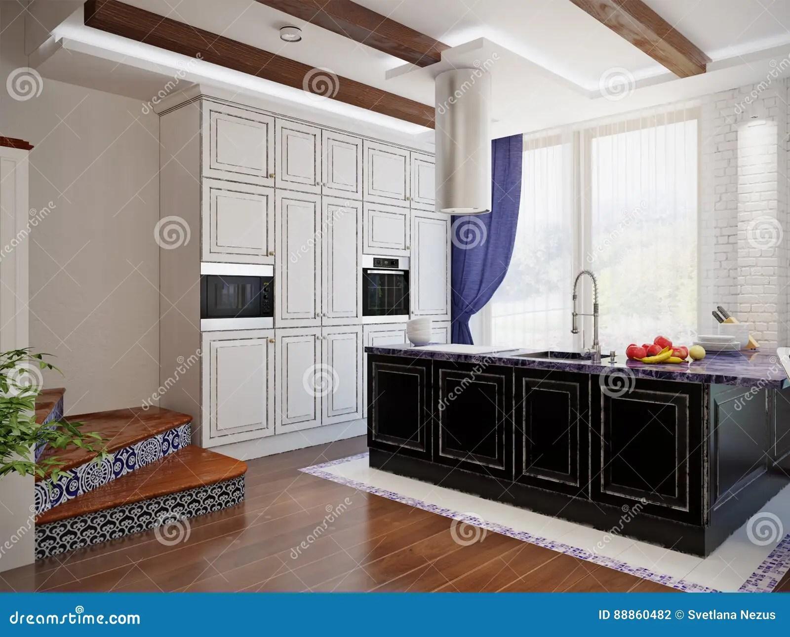 kitchen wall art decor cabinet organizers for 餐厅和厨房经典室内设计库存例证 插画包括有经典 用餐 国家 地区 餐厅和厨房经典室内设计