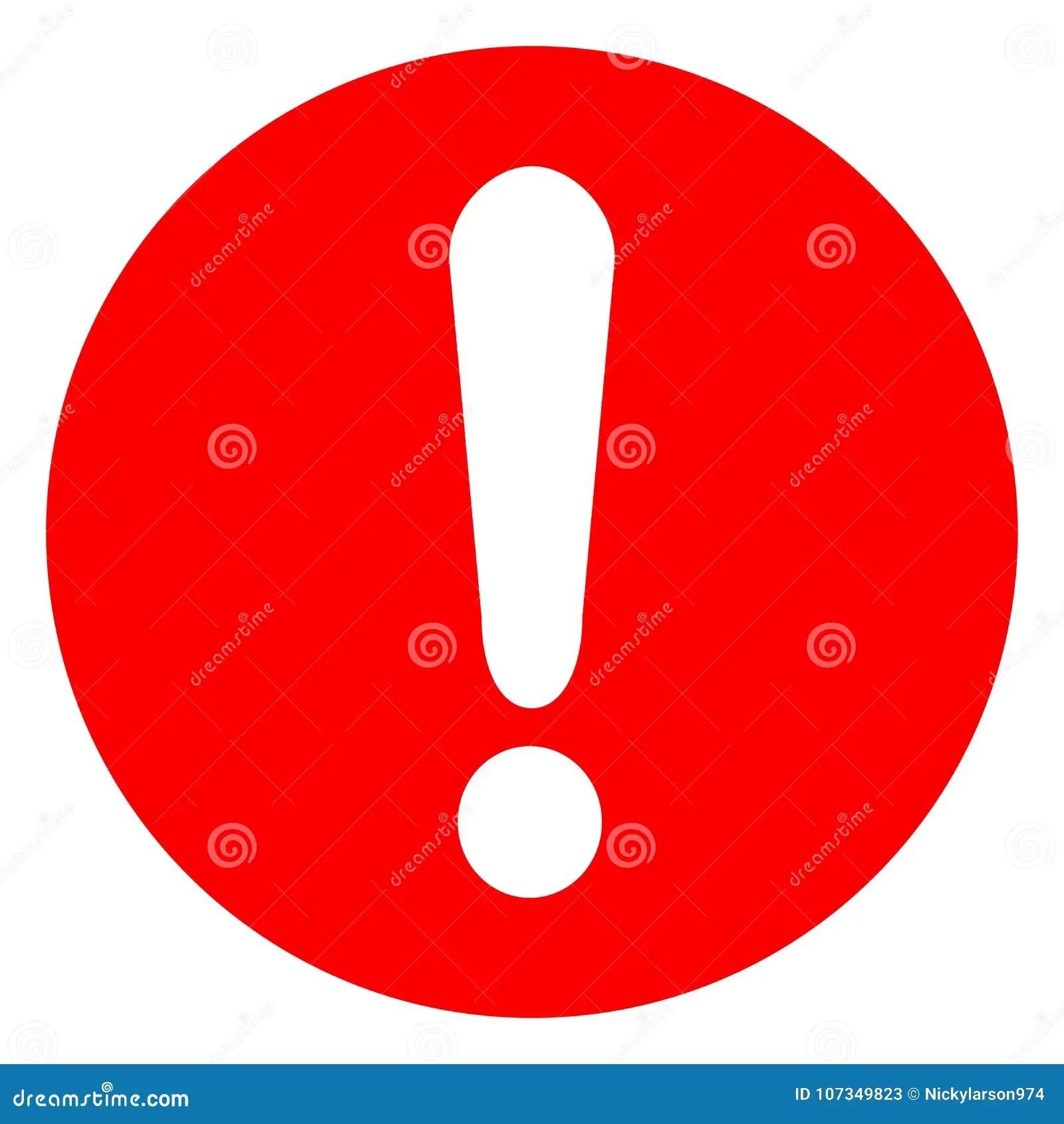 驚嘆號紅色象 向量例證. 插畫 包括有 被攻擊的. 錯誤. 圖標. 小心. 危險. 按鈕. 紅色. 符號 - 107349823