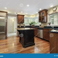 Slate Floor Kitchen Redo My 黑色花岗岩海岛厨房库存图片 图片包括有陈设品 内部 板岩 系列 豪华 黑色花岗岩家海岛厨房豪华