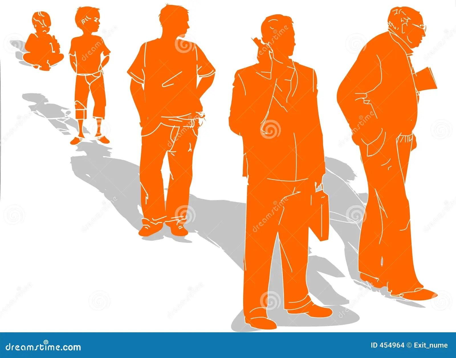 Évolution De La Durée D'un Homme Images Stock  Image 454964