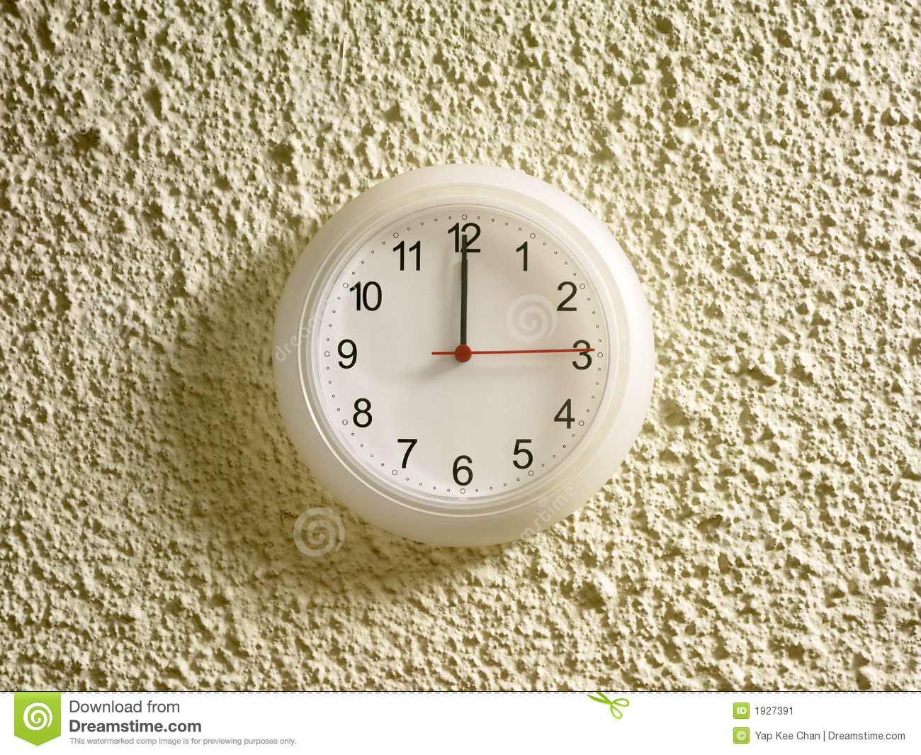 1200 Pm On The Clock Stock Image  Image 1927391
