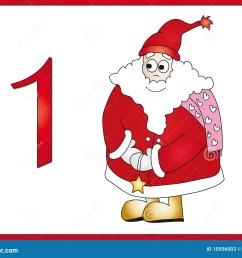 12 days of christmas 1 santa claus [ 1300 x 1065 Pixel ]