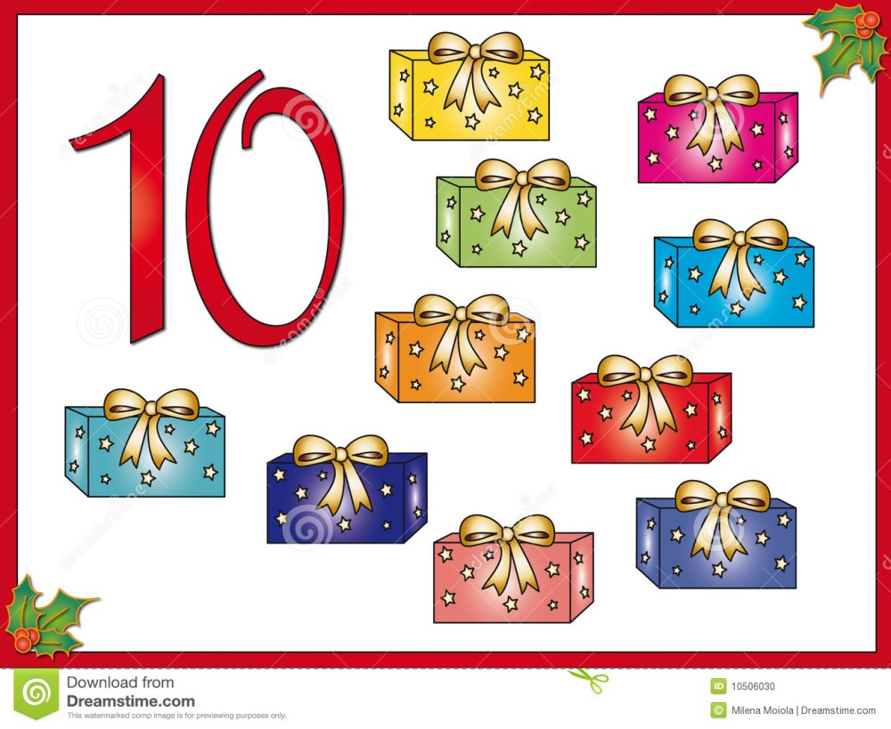 medium resolution of 12 days of christmas 10 gifts