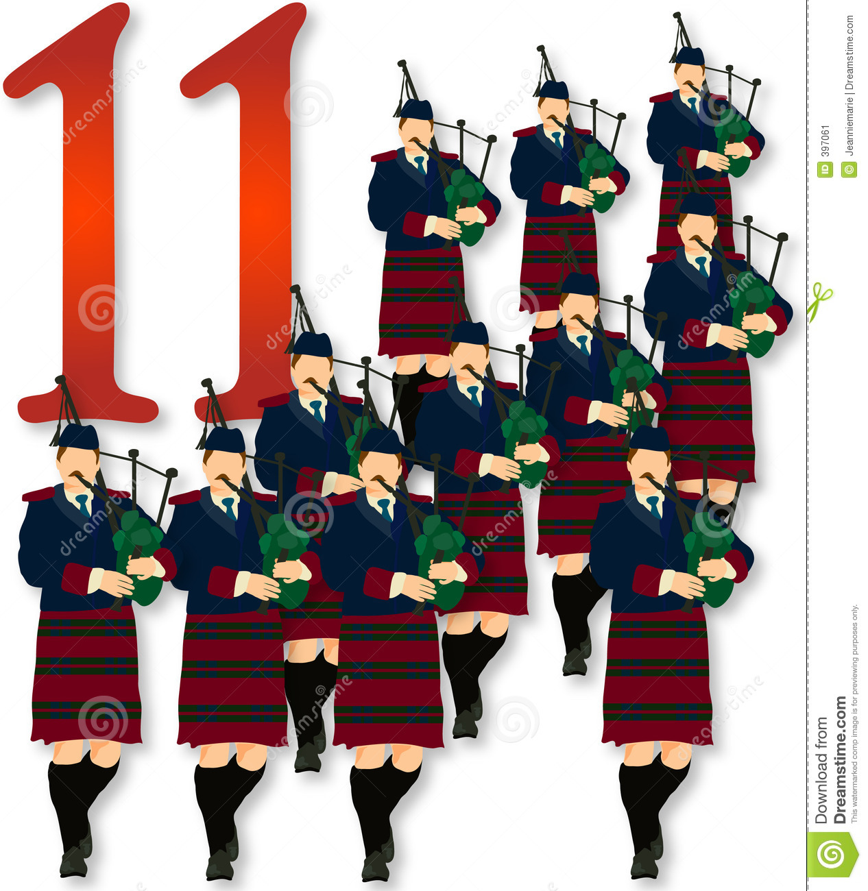 hight resolution of 12 days of christmas 11 pipers piping