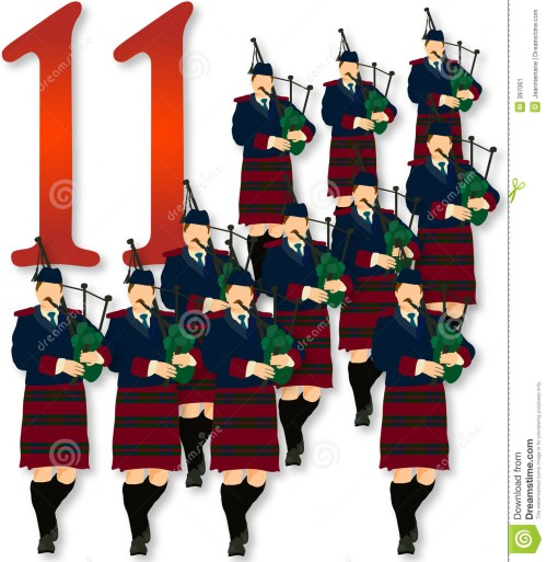 small resolution of 12 days of christmas 11 pipers piping