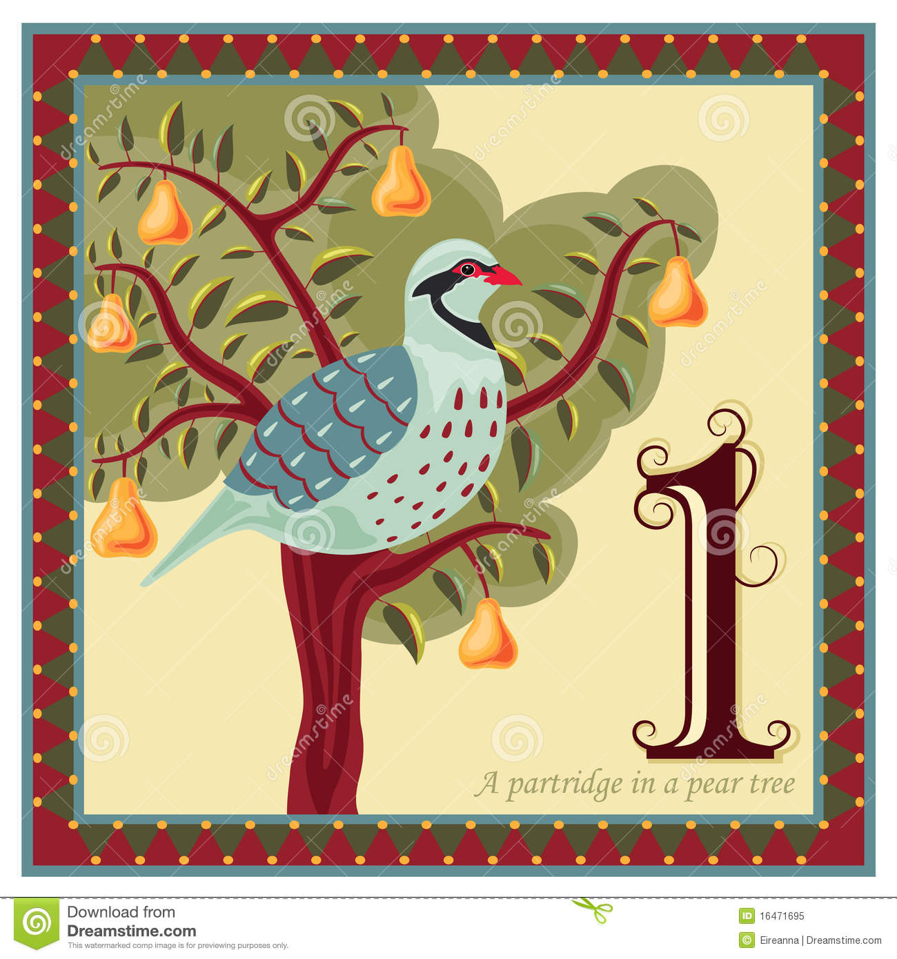 The 12 Days Of Christmas Stock Vector Illustration Of