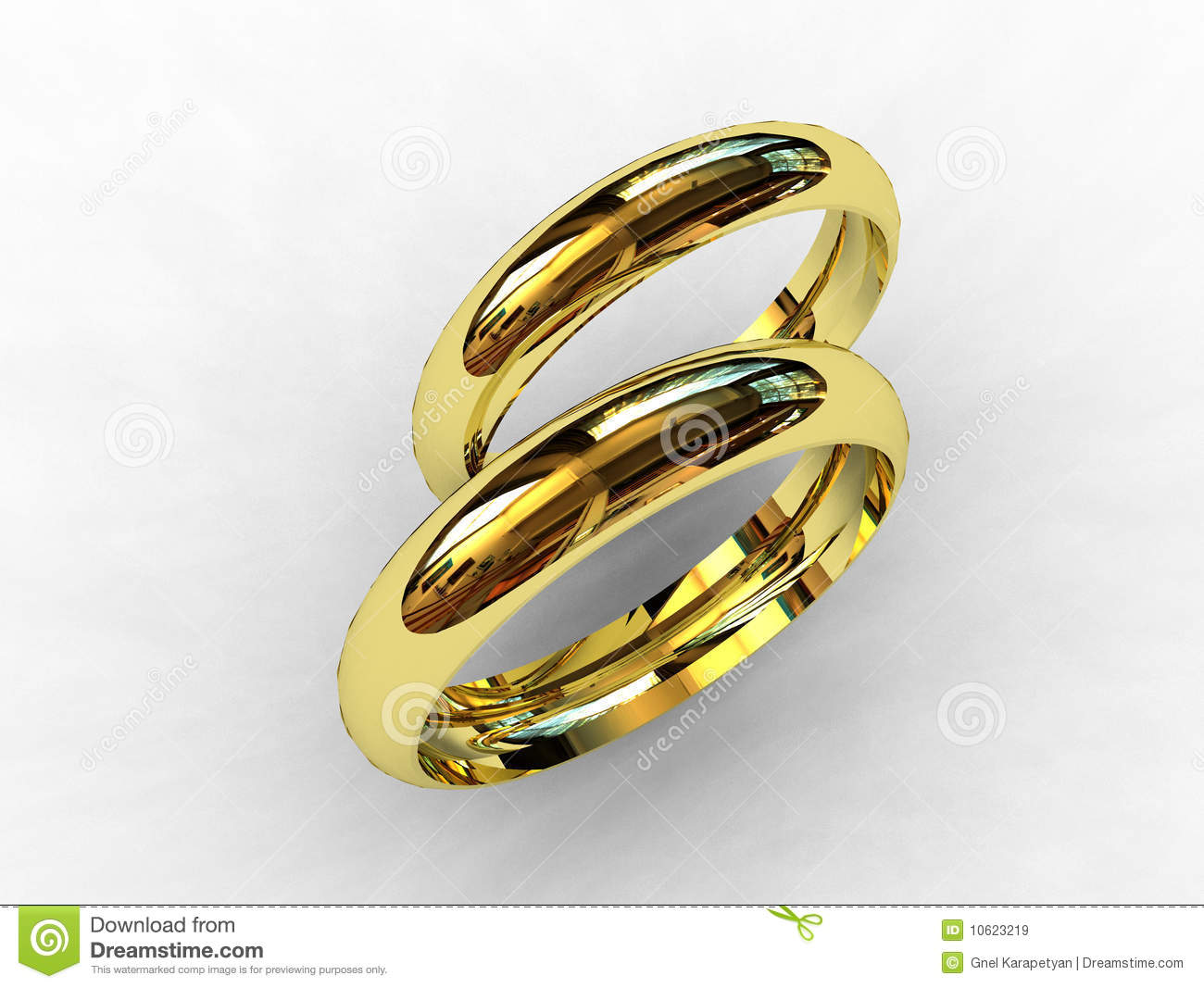 18 Karat Gold Wedding Bands Stock Illustration