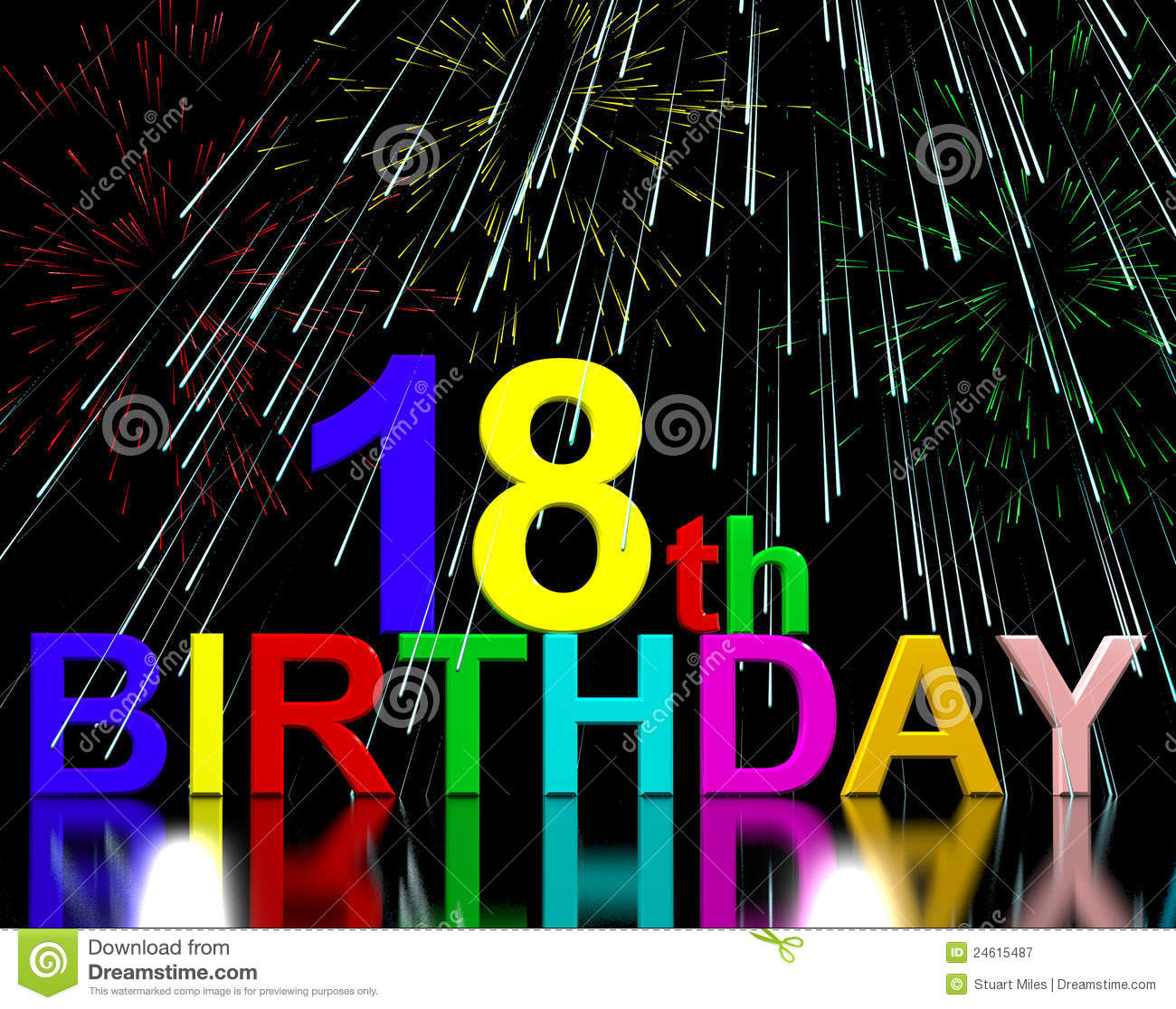 18th Or Eighteenth Birthday Royalty Free Stock Photography