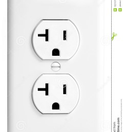 an isolated united states standard 20amp white electrical outlet against a white background [ 877 x 1300 Pixel ]