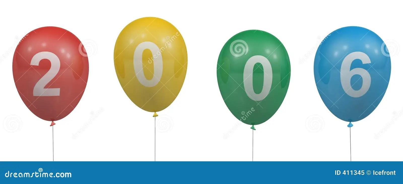 2006 balloons stock illustration