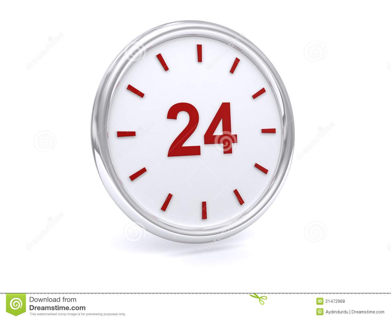 24 Hour Clock Stock Photo Image Of Conceptual Time