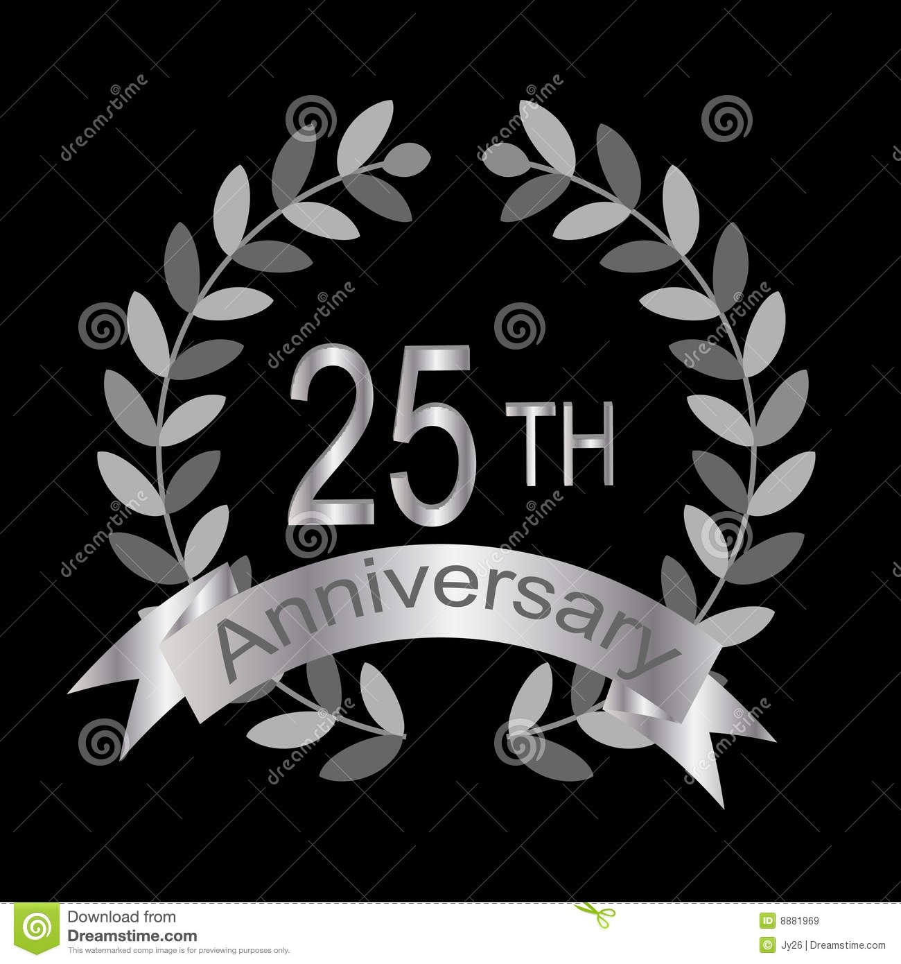 25th Anniversary vector Royalty Free Stock Images