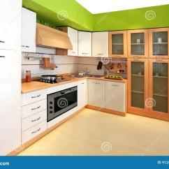 Green Kitchen Decor Cabinet Refacing Mississauga 3绿色厨房库存图片 图片包括有户内 输送管 厨房 烤箱 水槽 当代 3绿色厨房