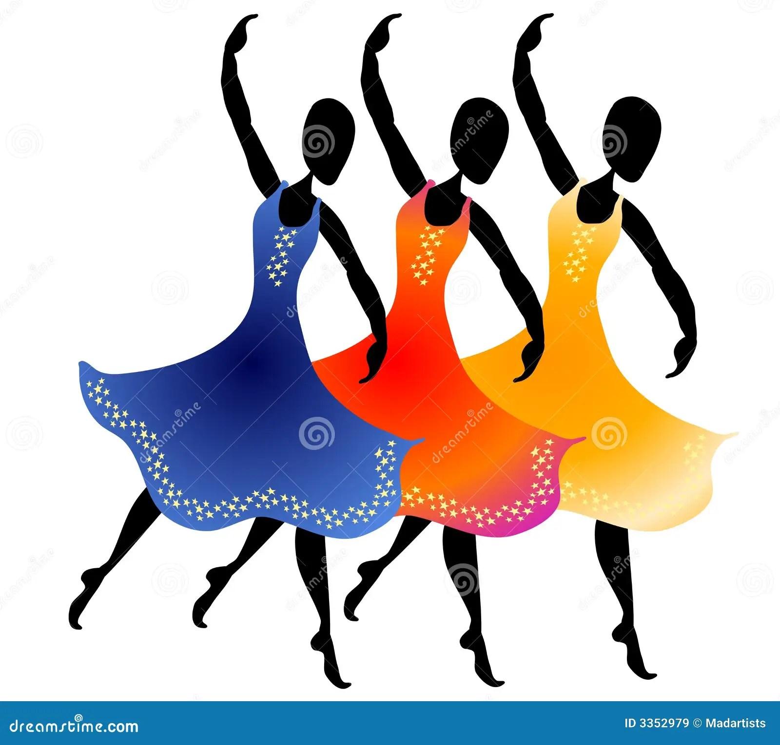 hight resolution of 3 women dancing clip art