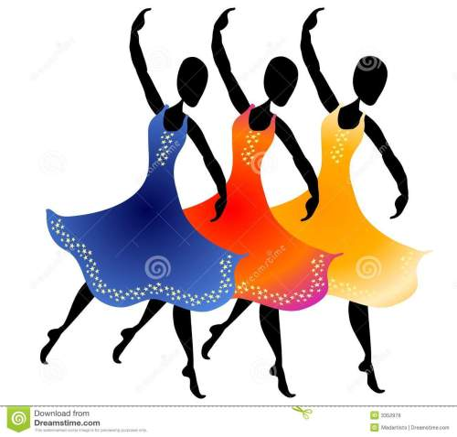 small resolution of 3 women dancing clip art