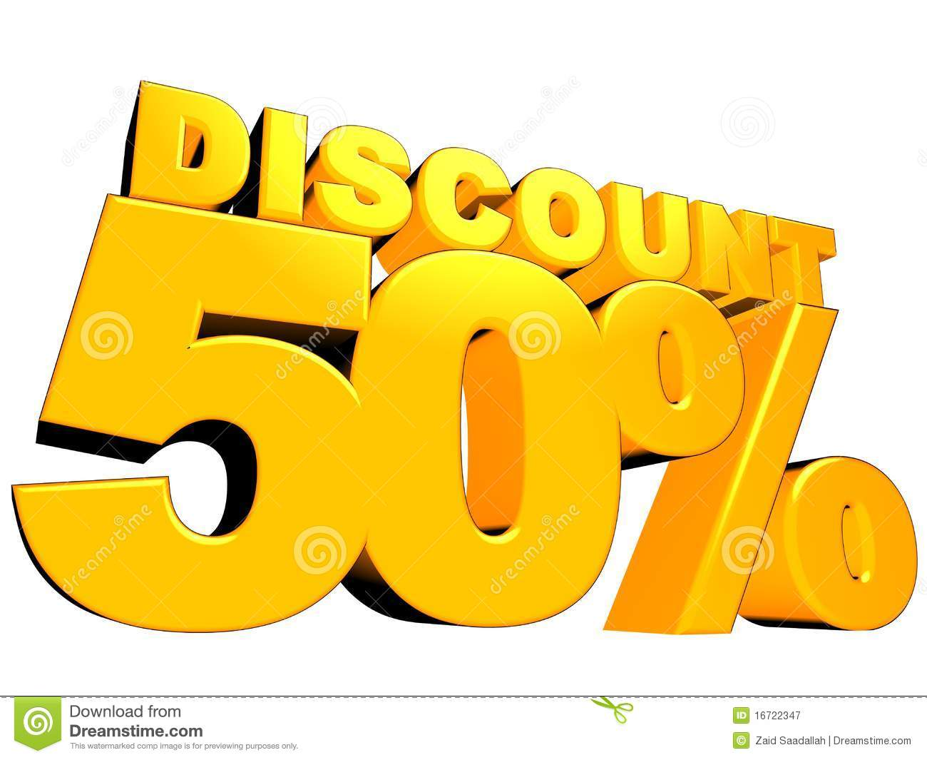 3D 50 Discount Sign Royalty Free Stock Photography